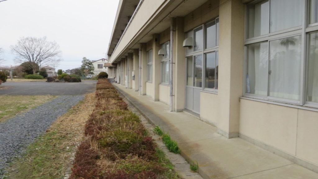 いろいろ撮影できちゃう学校スタジオ・校舎・東側から・桜の木