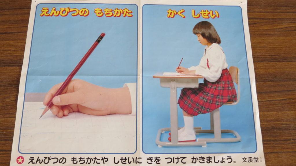 いろいろ撮影できちゃう学校スタジオ・教室・図書室・鉛筆‣姿勢のポスター