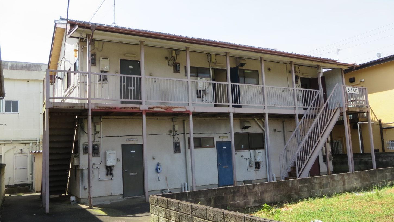 アトリエミカミのハウススタジオ・昭和でレトロなアパートスタジオ・北側外観