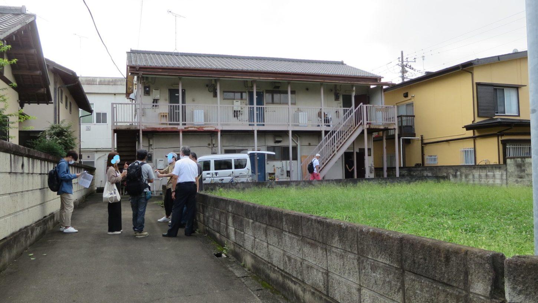 昭和でレトロなアパートスタジオ・美術確認のロケハン