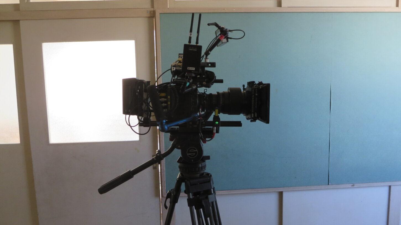 今日の撮影のカメラのシルエット・