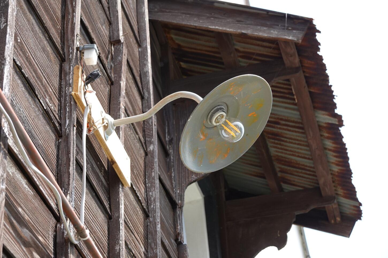 登録有形文化財橋本旅館スタジオ・外灯・修理・駐車場・取り付け・