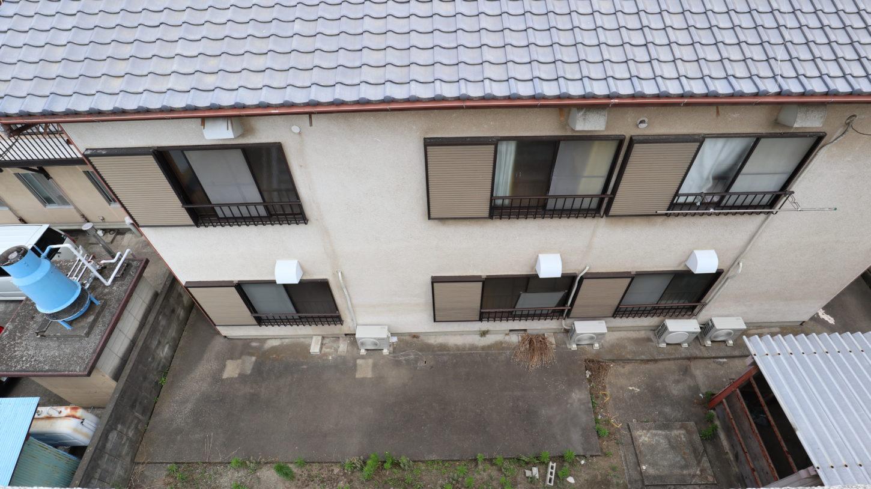昭和のアパートスタジオ俯瞰撮影・屋上から
