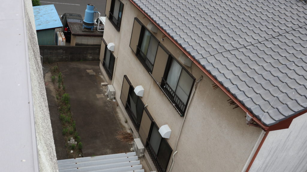 昭和のアパートスタジオ俯瞰撮影