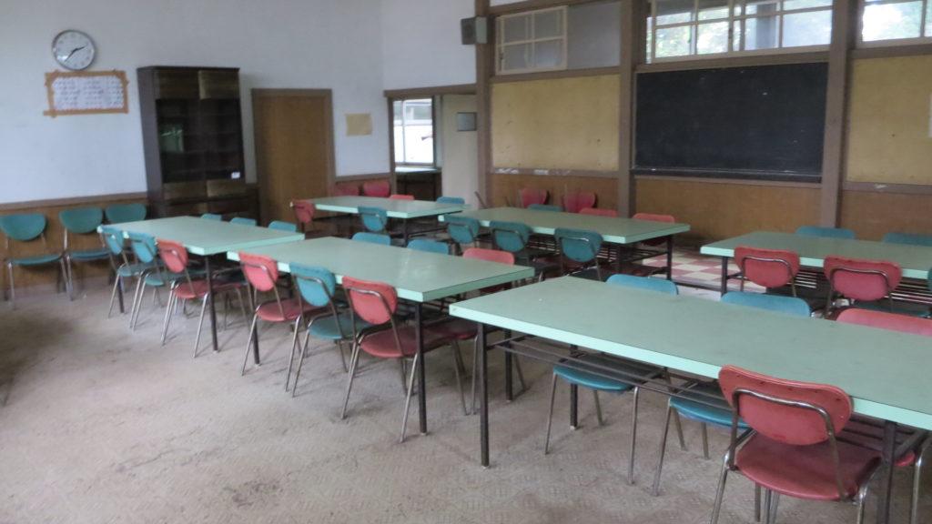 常総市・木造・学校・給食・食堂・1970年代