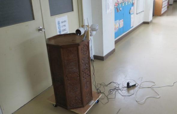いろいろ撮影できる学校スタジオ・防犯カメラ設置・サイレン・音声録画・警報・防犯
