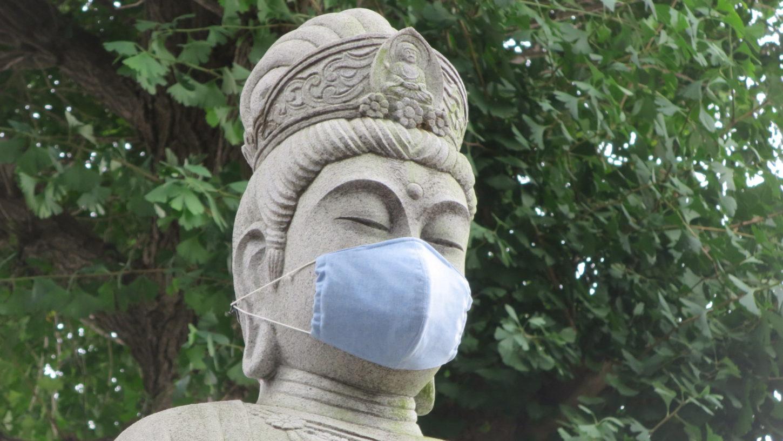 アトリエミカミ業務提携・撮影コーデネート物件・寺・観音様・コロナ対策・マスク着用