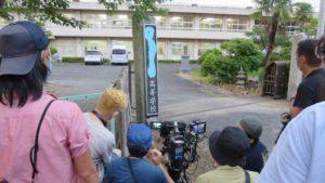 いろいろ撮影できる学校スタジオの正門・高校設定の看板
