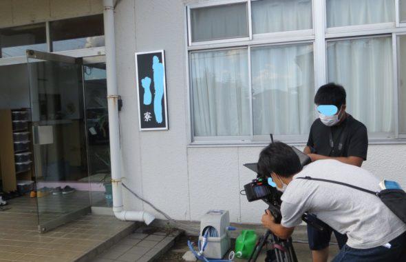 アトリエミカミのハウススタジオ・元ビジネスホテルだった大型戸建スタジオ・寮設定で撮影・看板