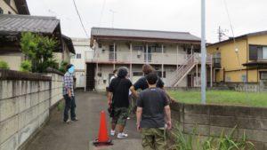 昭和でレトロなアパートスタジオにメインロケハン・東映撮影所のみなさん