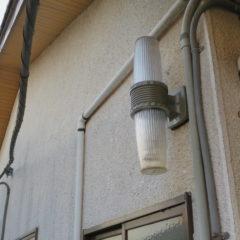 昭和でレトロなアパートスタジオ・外灯・故障・交換・修理・設置