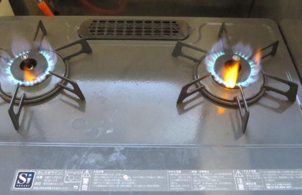 昭和でレトロなアパートスタジオ・レンジ台・ガス点火チェク・料理シーン撮影・ガス開通う・