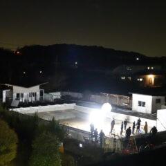 いろいろ撮影できる学校スタジオ・撮影本番・プール撮影・冬・ミュージックビデオ撮影