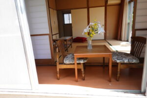 登録有形文化財橋本旅館スタジオ・新館・奥の和室・縁側