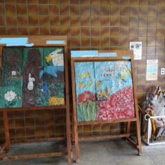 学校スタジオ・オブジェ・卒業制作・美術道具・飾り・正面玄関