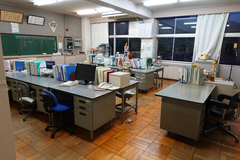 学校スタジオ・職員室・基本飾り込・小道具