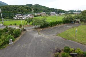 学校スタジオ・屋上からの正門・