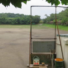 常総市・木造・学校・野球場・田舎のグランド