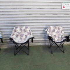 役者さんの椅子にブランケットが置いてありました・撮影現場・